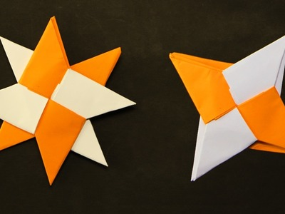 How to Make a Transforming Ninja Star Origami? Paper Shuriken instructions