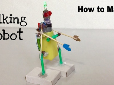 How to Make a Walking Robot at Home - Easy to Build - Amazing Toy