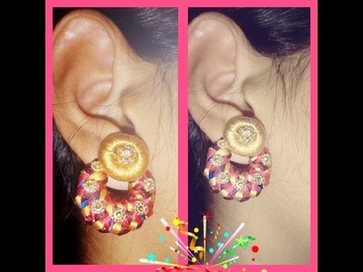 How to make braided chandbali earrings