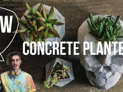 How to make concrete planters - skull