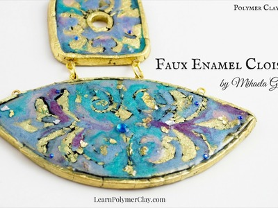 How to make Faux Enamel Cloisonne using polymer clay, foils and mica powders