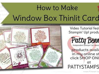 How to make Floral Cards with the Window Box Thinlits - Stampin' UP!
