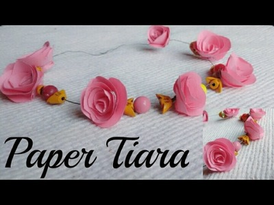 How to make paper flower tiara.headband.crown at home