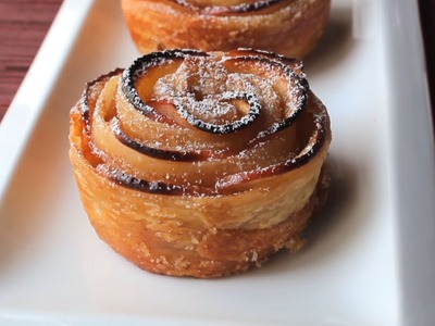 How to make puff pastry apple roses