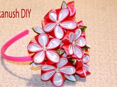 HOW TO MAKE RIBBON FLOWER HEADBAND