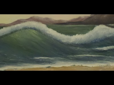 How to paint an OCEAN wave, with acrylic paint, easy techniques.