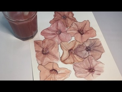 How to paint flowers (watercolor timelapse) - Alpha Art