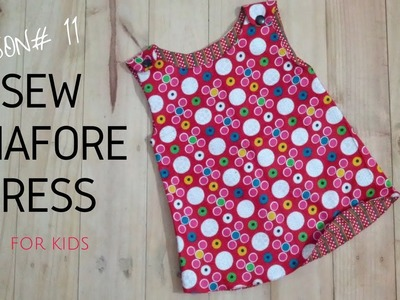 How to Sew Pinafore Dress with Free Pattern- Beginners Sewing Lesson 11