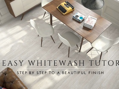 How to Whitewash and Seal a Wood Floor. DIY Steps. Milk paint, Lime Wash, Antique Look