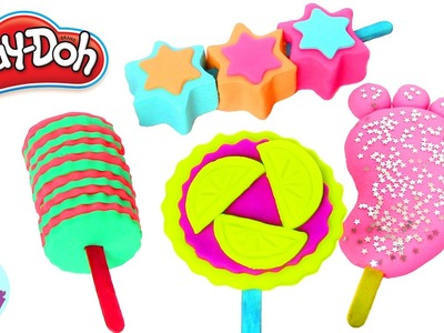 Ice Cream Play Doh Colors Rainbow DIY and Trolls Poppy Cake Plastilina y Juguetes Castle Toys