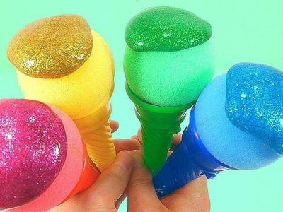 Ice Cream Toys How To Make Colors Glitter Slime Toy DIY Five Little Monkeys One Little Finger Family