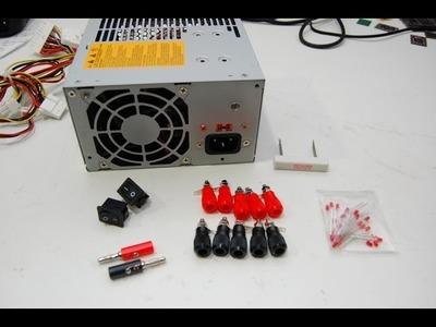 تحويل بورسبلاي الكومبيوتر الى مجهزقدرة How to convert ATX power supply to Bench power supply