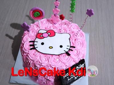 Kekinian! Cara Membuat Kue Ulang Tahun Hello Kitty - How to Make Birthday Cake Hello Kitty