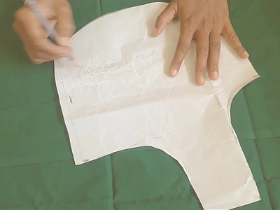 Ladies blouse cutting for beginners using paper(Tamil)