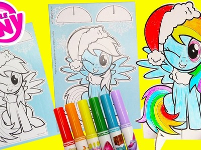 My Little Pony Rainbow Dash Pop Outz Christmas Coloring Activity and Surprises