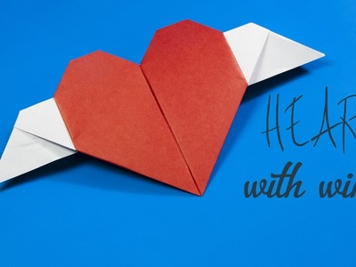Origami Heart With Wings - DIY Valentine's Day