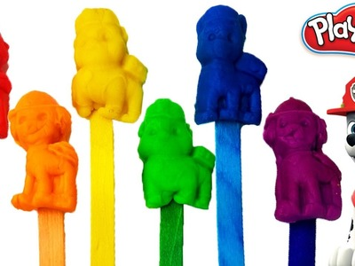 Paw Patrol Play Doh Popsicles Rainbow Modeling Clay Modelling Clay Toys for Kids Learn Colors