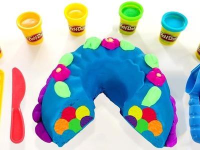 PLAY DOH CAKE How to Make Play Doh Surprise Birthday Rainbow Cake
