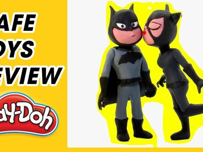 Play Doh Toys DIY - How to Make Catwoman for Kids Using Play Doh