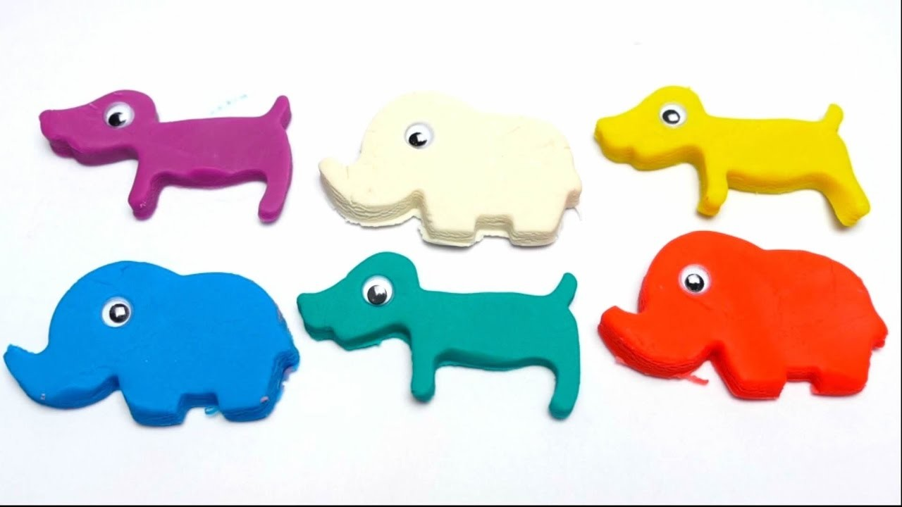 Rainbow Clay DIY Game with New Molds