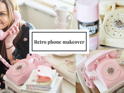 Retro telephone DIY makeover using Rust-oleum candy pink.