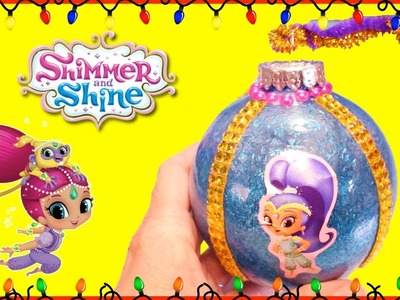 SHIMMER AND SHINE Surprise Toys + DIY XMAS Ornaments Blind Boxes Genie Toy Surprises