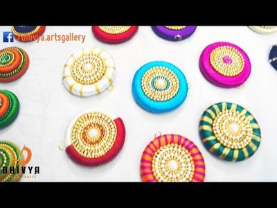 Silk Thread Jewellery   Pendent set | How to make Tutorial update soon