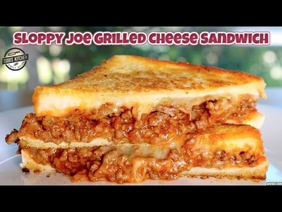 Sloppy Joe Grilled Cheese Sandwich - How to make recipe DIY