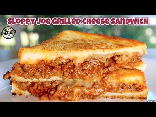 Sloppy Joe Grilled Cheese Sandwich - How to make recipe DIY