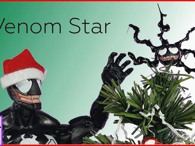Speed Paint of Venom Mini Christmas Tree Star set to Christmas Music