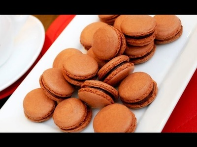 Step by Step How To Make Chocolate Macarons 巧克力馬卡龍做法