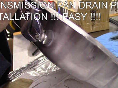Transmission pan drain plug Installation!! REAL EASY DIY !!!