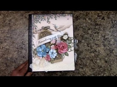 TUTORIAL PART 1 MINI ALBUM COUNTRY AFFAIR PAPER DESIGNS BY SHELLIE