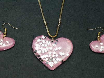 Valentine Crafts - DIY Necklace with Earrings Valentine Gift Idea