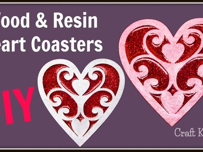 Valentine's Day Wood and Resin Heart Coasters | DIY Project | Another Coaster Friday | Craft Klatch