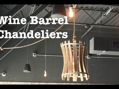 Wine Barrel Chandeliers for Escape brewing | How-To