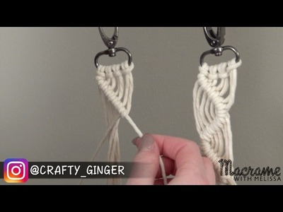 #3 of 4: DIY Macrame Tutorial: Macra-Mini Key Chain for Beginners
