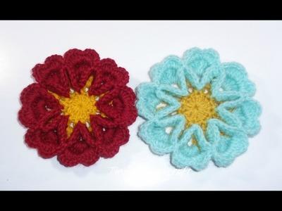 3D crochet flower No 11