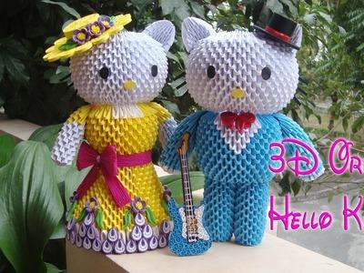 3D ORIGAMI HELLO KITTY | PAPER HELLO KITTY HANDMADE DECORATION