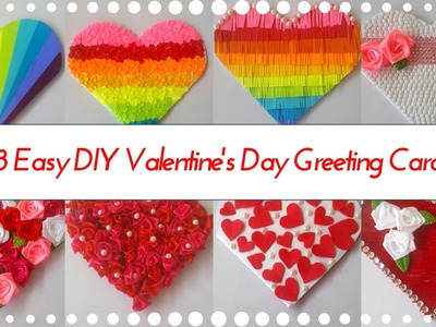 8 Easy DIY Heart Shaped Greeting Card Designs for Valentines Day - Greeting Ideas By Maya Kalista!