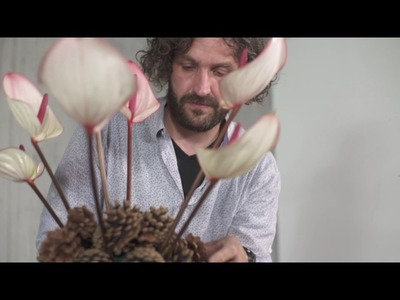 A Pine Cone Structure by Pim van den Akker | Flower Factor How to Make | Powered by Fiore Anthuriums