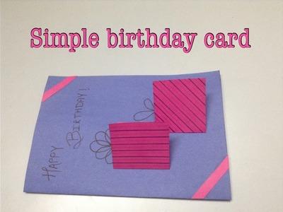 A simple handmade birthday card!