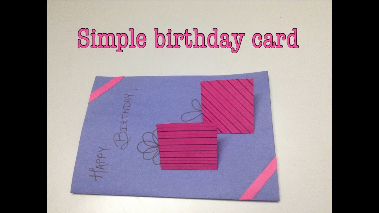 A simple handmade birthday card!