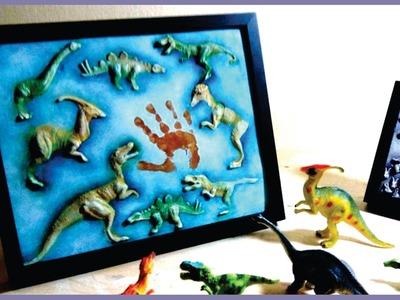 ❣Awesome DIY Baby Memory Board - Favorite Dinosaur Toys❣