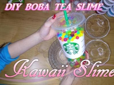 BOBA TEA SLIME | Easy DIY | ONLY 4 INGREDIENTS |