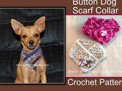 Button Dog Scarf Collar Crochet Pattern