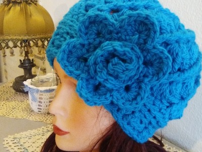 #CROCHET HAT SHELLS STITCH English tutorial