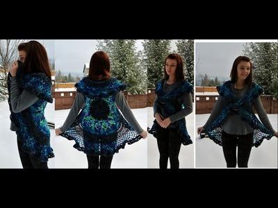 Crochet Lotus Mandala Circular Vest Tutorial