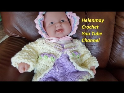Crochet Quick and Easy Baby Sweater DIY Video Tutorial