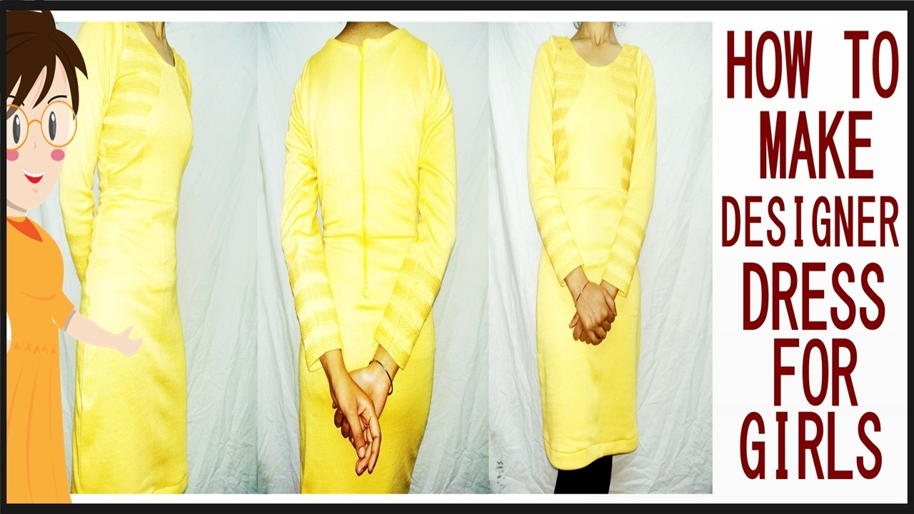 Designer Dress For Girls   Easy Making   DIY - Tailoring With Usha